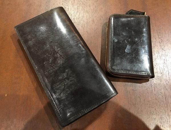 ココマイスターの長財布・ロンドンブライドルスプレッドイーグルと小銭入れ・ロンドンブライドルショットオーヴァー