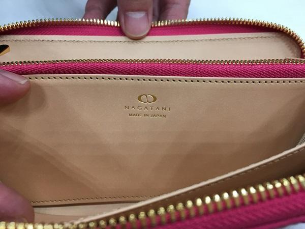NAGATANIの財布のロゴ