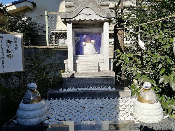 川越熊野神社の撫で蛇様