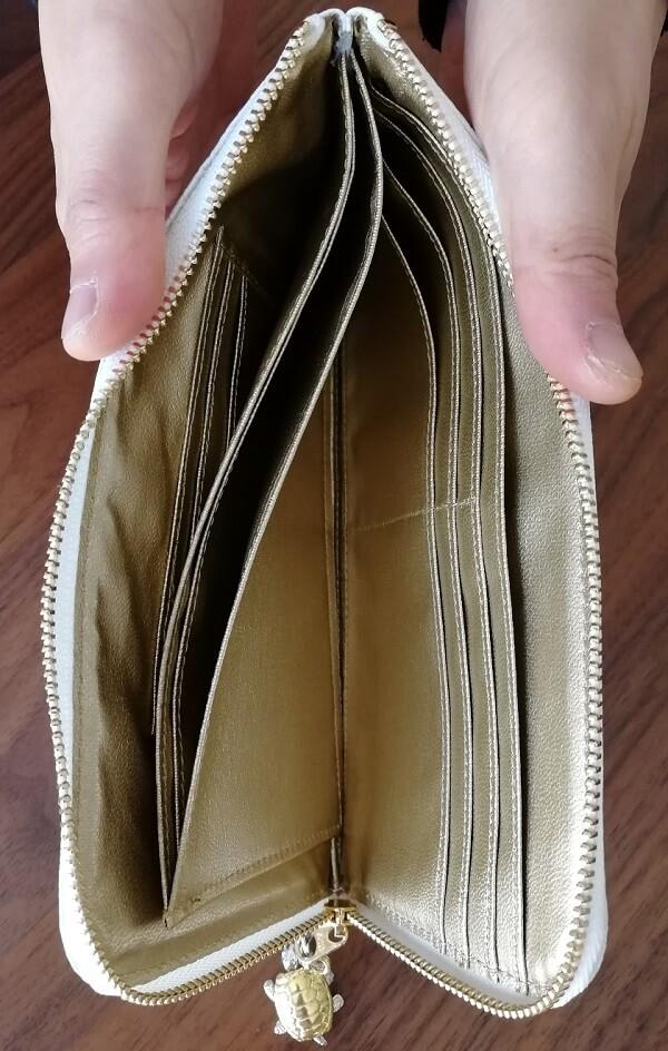 開運の白蛇財布の内装