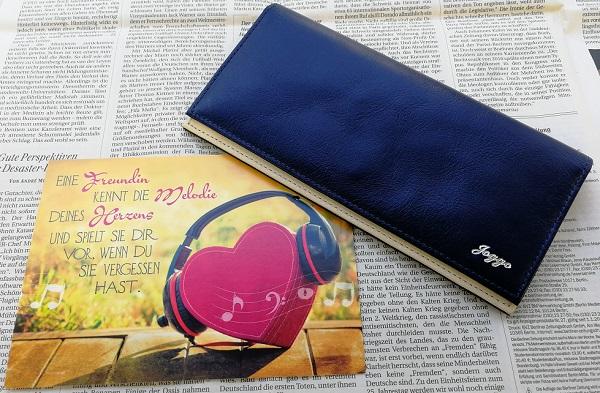 JOGGOのメンズバイカラ―長財布
