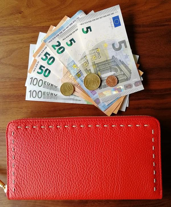 NAGATANI(ナガタニ)の財布SAHOと外貨