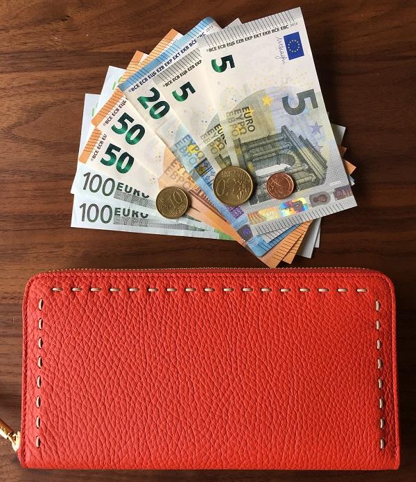 NAGATANI(ナガタニ)の財布『SAHO』と外貨