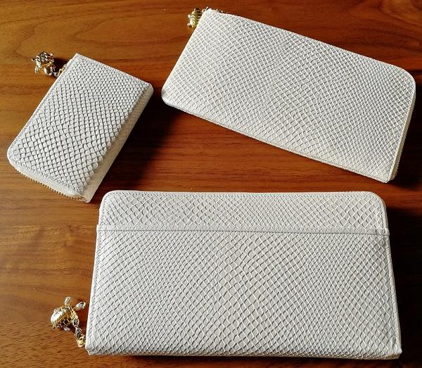 白蛇の開運財布、白蛇の厄除け財布、白蛇の小銭入れ