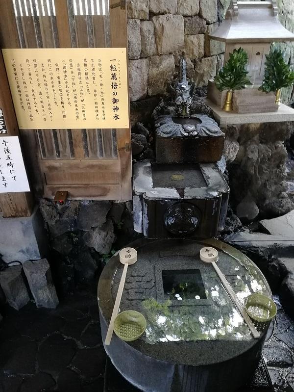 阿那稲荷神社の一粒萬倍の御神水