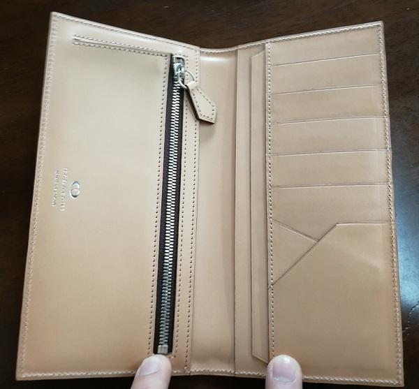 NAGATANI(ナガタニ)のメンズ財布WSTO(長財布)の内装
