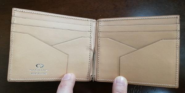NAGATANI(ナガタニ)のメンズ財布WSTO(マネークリップ)の内装