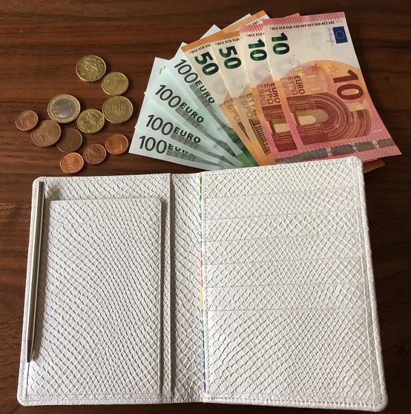 財布屋の『安心安全パスポートケース』と€