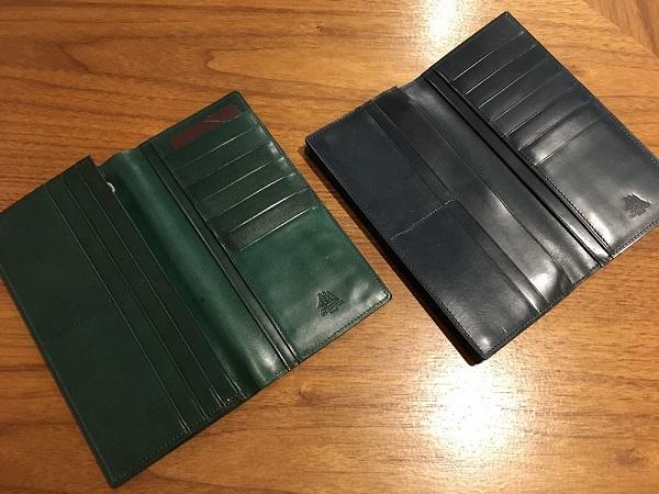 ココマイスターの長財布、プルキャラックロンバルディアとプルキャラックカラブリア