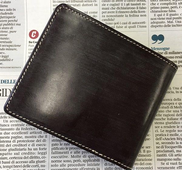 グレンチェック(GLENCHECK)のブライドルレザー二つ折り財布