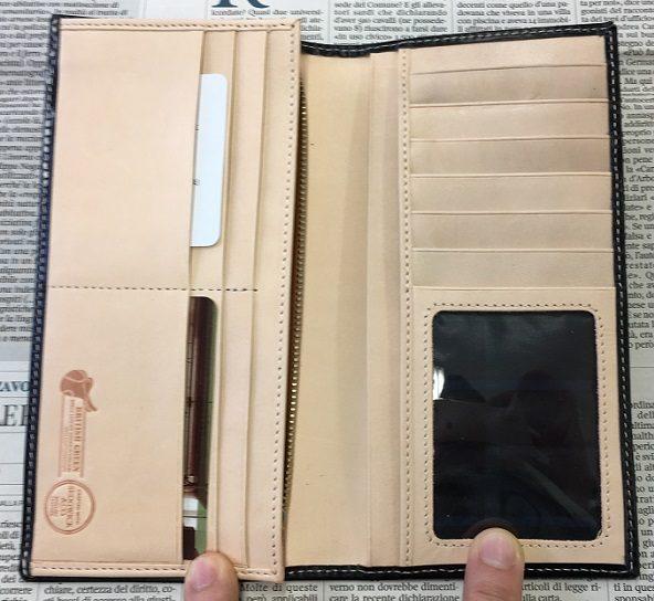 グレンチェック(GLENCHECK)のブライドルレザー 長財布の内装