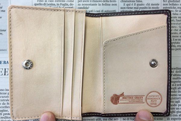 グレンチェック(GLENCHECK)のブライドルレザーカードケース(名刺入れ )の内装