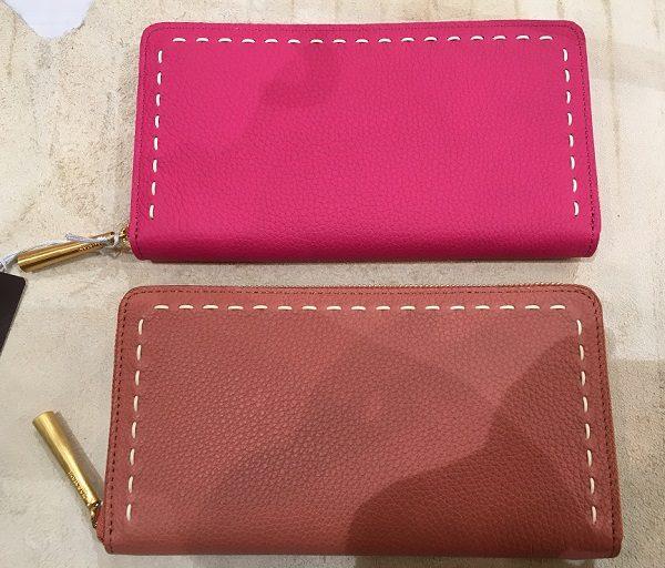 NAGATANI(ナガタニ)の財布SAH0、ROYALPINKとTERRACOTTA