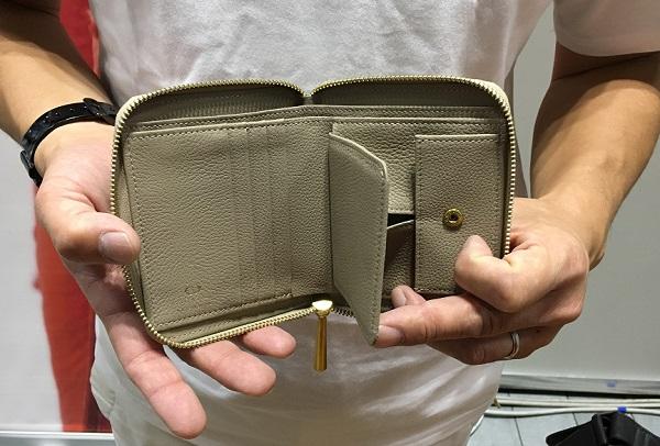 NAGATANI(ナガタニ)の二つ折り財布・Bonnyの内装