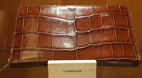 クロコダイルパーシモン(ココマイスターの長財布)