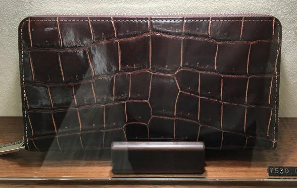 ココマイスターのクロコダイルシリーズの長財布【クロコダイルジムクラック】