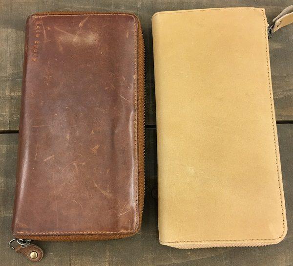 ハレルヤの財布のエイジング、経年変化