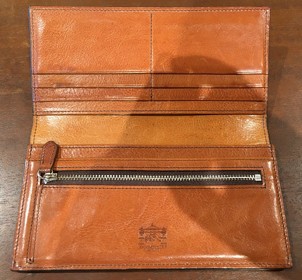 ロッソピエトラ薄型長財布の内装