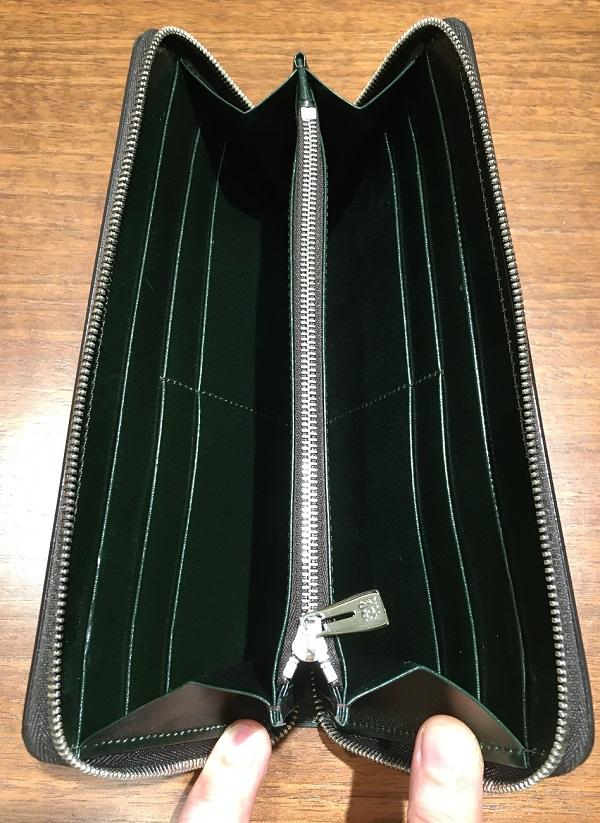 ココマイスターの長財布、カヴァレオシンバの内装