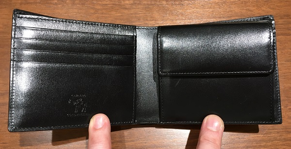 ココマイスターの二つ折り財布、カヴァレオヘローエの内装