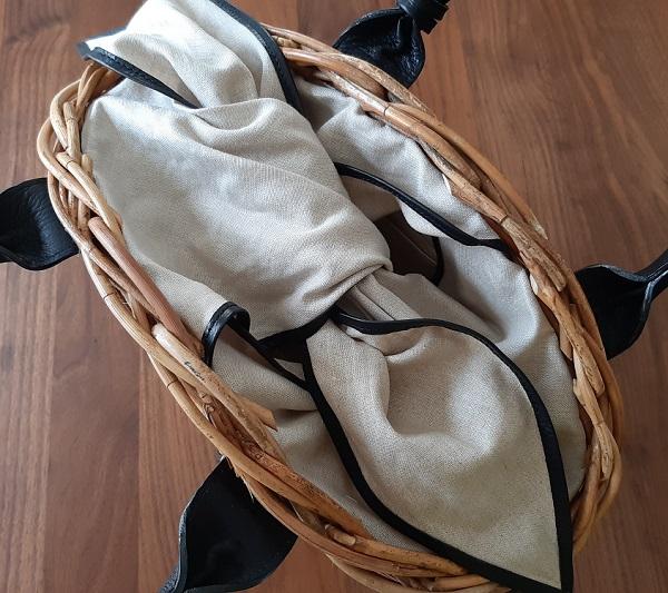 AETHER(エーテル)の天然アラログ製かごバッグ・マノンのリネン