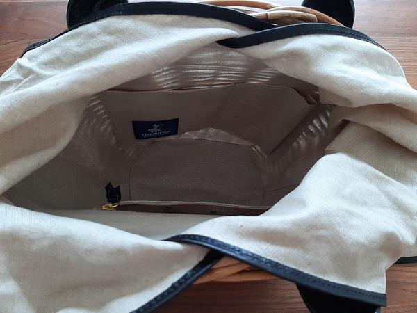 AETHER(エーテル)のかごバッグ、MANON(マノン)の内装