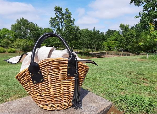 AETHER(エーテル)の天然アラログ製かごバッグ・マノン