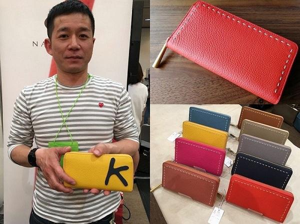 (株)ナガタニの社長・長谷圭祐氏とナガタニの財布SAHO
