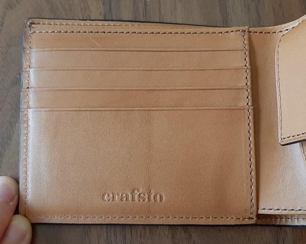 crafsto(クラフスト)の財布『ブライドルレザー 二つ折り財布』のカードポケット
