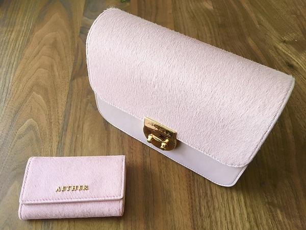 AETHER(エーテル)のキーケース、ヘアカーフ『アリュール』キーケースと、AETHER(エーテル)のバッグ『ALLURE(アリュール)』