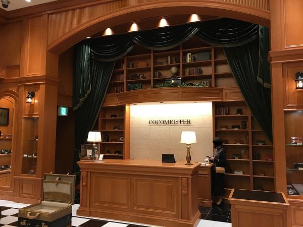 ココマイスター神戸旧居留地店の店内