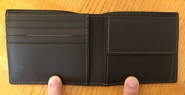ココマイスターの二つ折り財布、ベテルギウスシリウスパースの内装