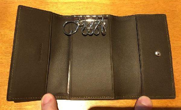ココマイスターのキーケース、ベテルギウスガンマキーケースの内装